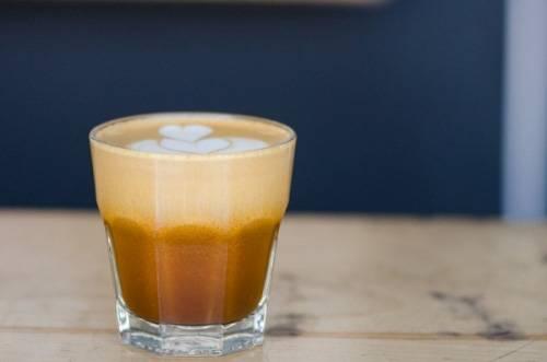 almond cappuccino glass