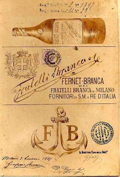 Fernet Branca marchio 1887