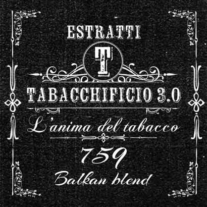 estratti tabacchificio 759 balkan blend etichetta