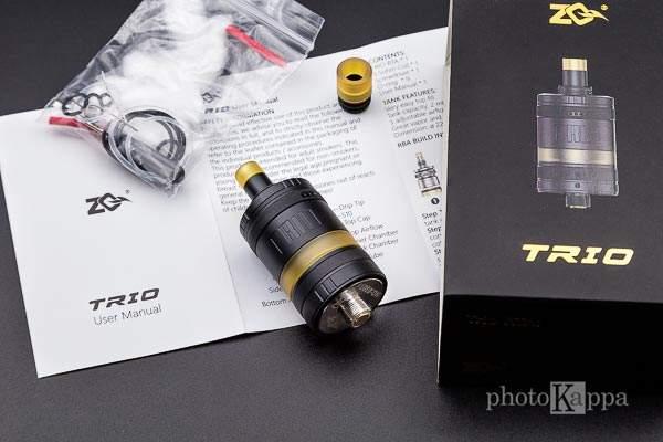 ZQ Vapor Trio MTL RTA contenuto confezione
