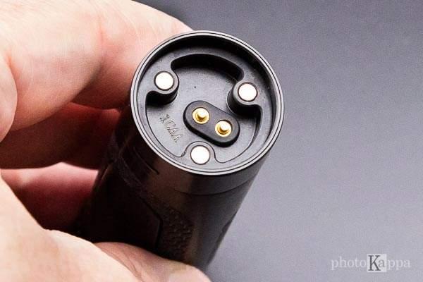 Aspire Zero G contatti e magneti della batteria